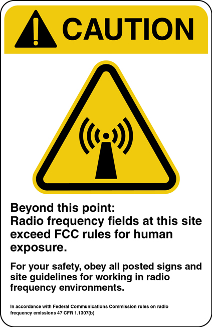 Caution FCC Sign